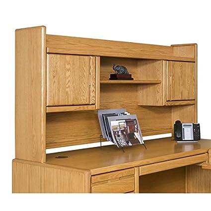 Beaumont Lane Bookshelf Hutch In Medium Oak