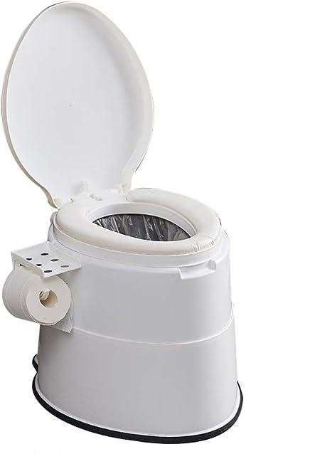 HYCZW Inodoro Portátil, WC Portátil para Camping Inodoro WC Cubo De Viaje Camping WC Portátil para Camping con Extraíble Tener Toallero De Papel Fácil ...