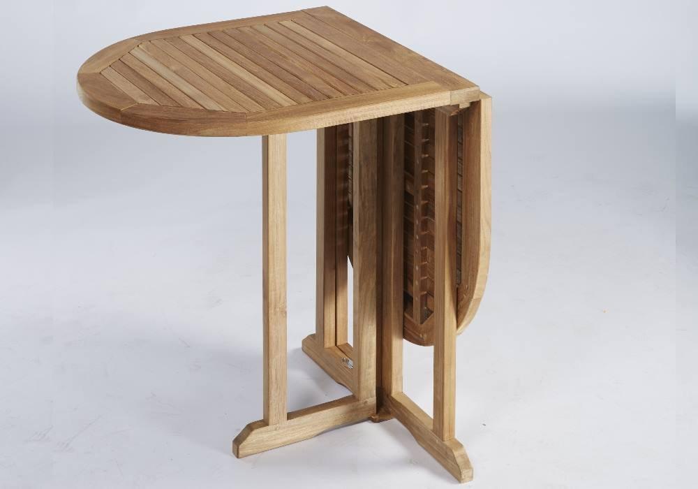 Destiny Tisch BALCONY PROMO Klapptisch 120x60 oval Holztisch - Tisch aus hochwertigem Hartholz Akazie