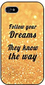 iPhone 5C Follow your dreams, they know the way - Black plastic case / Inspirational and motivational life quotes / SURELOCK AUTHENTIC by supermalls