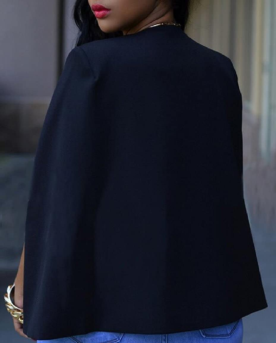 pujingge-CA Women Cape Blazer Suit Jacket Open Front Split Sleeve Blazer