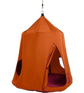 HangOut HugglePod Hanging Tree Tent With LED Lights, 45 Diam. X 54