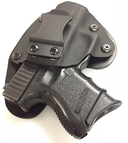 Walther PPS M2 IWB Holster, Black Kydex with Bridle Leather Backer, Inside The Waistband Concealed Carry Holster, Veteran Owned - American Made, Right Handed Holster