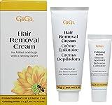 Depilatory Cream Bikini Area - GiGi Hair Removal Cream with Calming Balm for Legs and Bikini Area