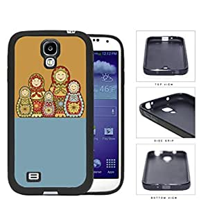 Russian Nesting Dolls Blue And Orange Rubber Silicone TPU Cell Phone Case Samsung Galaxy S5 SM-G900