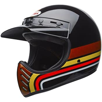 Bell Moto-3 Off Road Motorcycle Helmet (Stripes Black/Orange, Medium) (Non-Current Graphic)