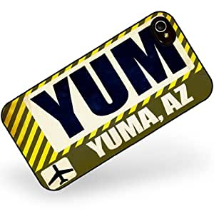 Rubber Case for iphone 4 4s Airportcode YUM Yuma, AZ - Neonblond