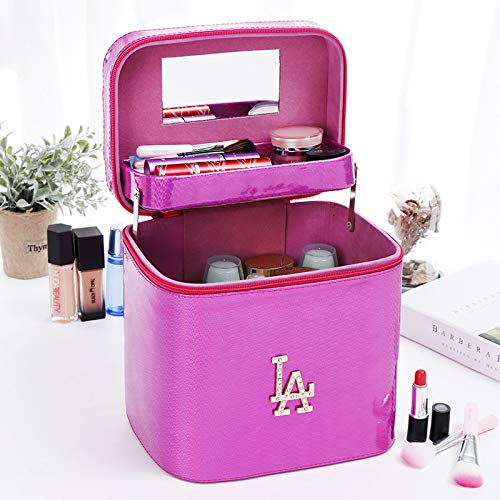 LITAO Waterproof Cosmetic Bag Large-Capacity one-Piece Cosmetic case Ladies Portable Waterproof Cosmetic Bag Multi-Function, Rose red one-Piece Box ()
