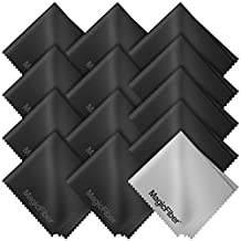 (13 Pack) MagicFiber® Premium Microfiber Cleaning Cloths - For Tablet, Cell Phone, Laptop, LCD TV Screens and Any Other Delicate Surface (12 Black, 1 Grey)