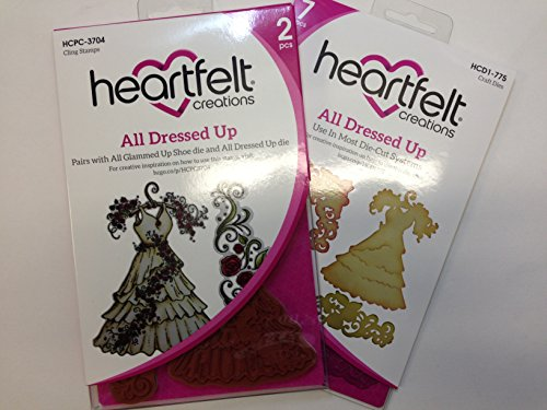 Heartfelt Creations All Dressed Up Bundle with Cut & Emboss Dies +Cling Rubber Stamp Set 5