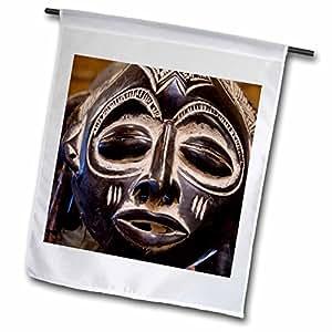 Danita Delimont - African Tribes - South Africa, Durban, Zulu tribe mask-AF42 CMI0179 - Cindy Miller Hopkins - 18 x 27 inch Garden Flag (fl_69536_2)