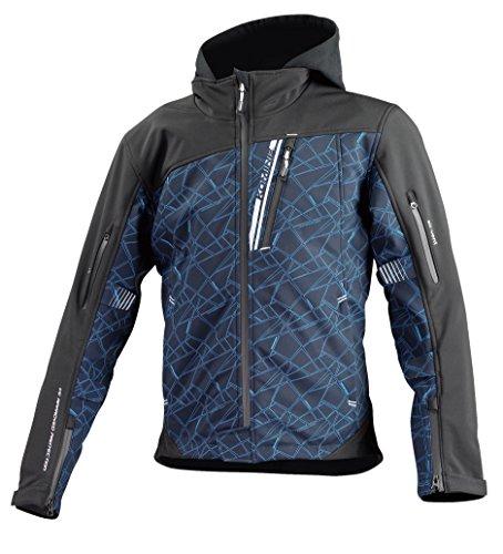 [해외] 코미네(KOMINE) JK-590 프로텍트 소프트 쉘 겨울 파카 재킷 Cruch Blue-Black/L Protect Softshell Winter Parka 07-590