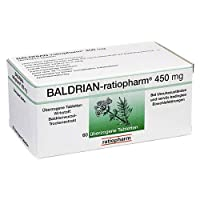 BALDRIAN RATIOPHARM 450 mg ueberzogene Tabletten 60 St