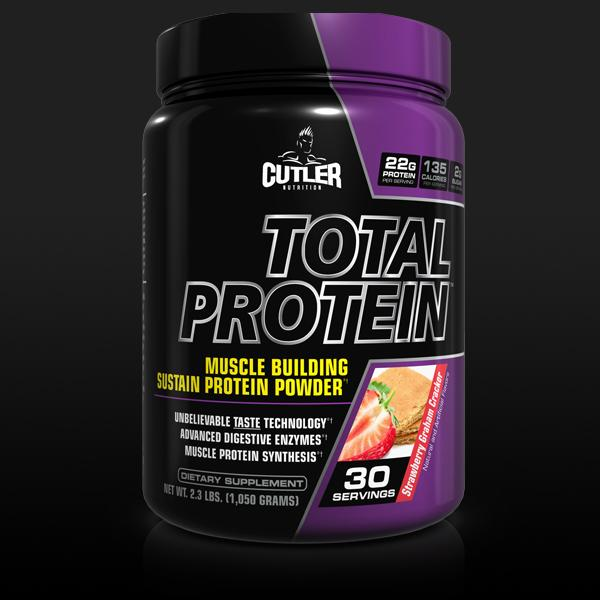 Amazon.com: Cutler Nutrition Total Protein Muscle Building Sustain Protein Powder Strawberry