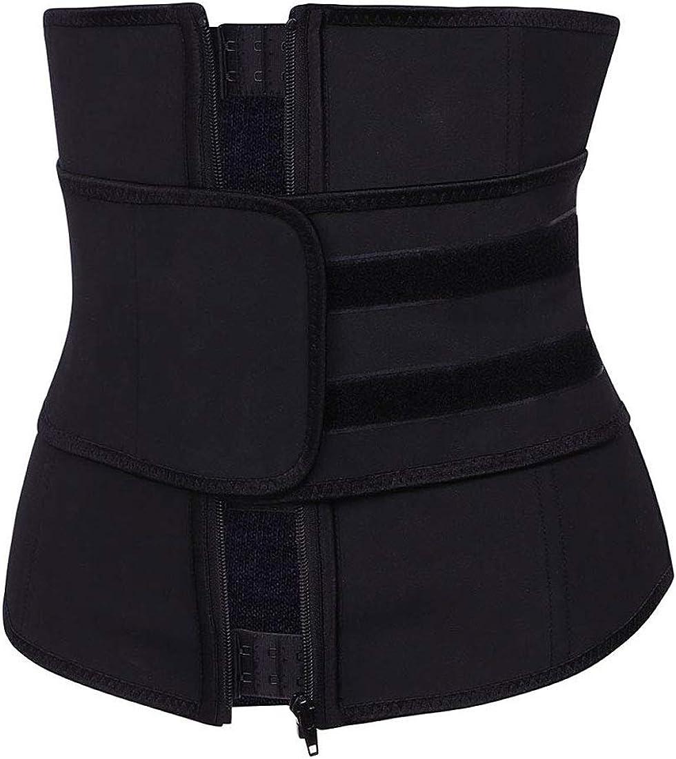 goldenharvest GH Womens Dark Buckle Zipper Rubber Sport Weight Loss Band Breathable Waist Cincher
