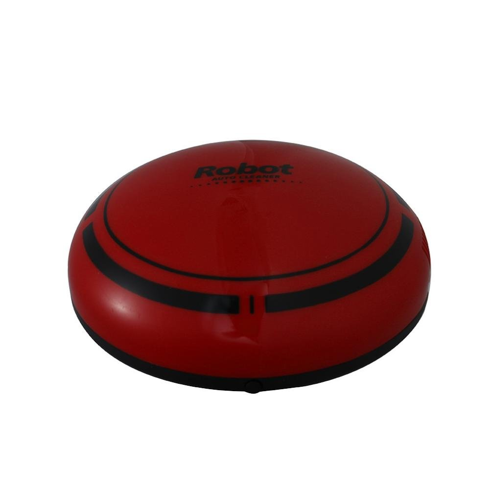 Iusun Mini Sweeping Machine, Automatic Intelligent Robotic Vacuum Cleaner Floor Care Sweeping Clean Floorcleaner (Red)