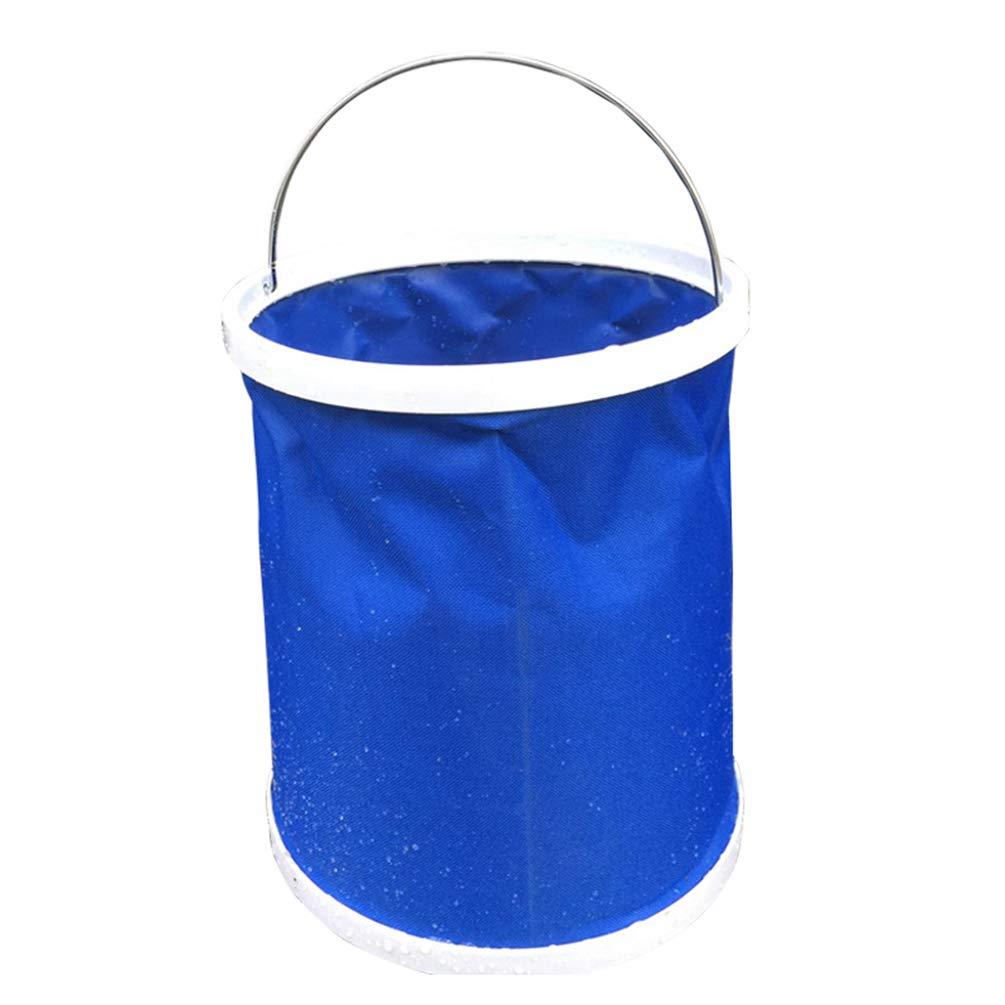 l/'ext/érieur WanYangg Seau portatif Pliable pour Usage R/étractable Multifonctionnel Seaux Pliables Robustes,Peu encombrants pour Les d/éplacements la p/êche /& Le Camping 9L Blue OPP Bag