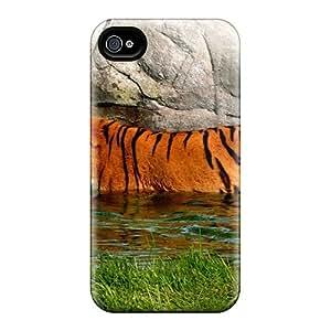 Premium Tpu Striped Water Cover Skin For Iphone 4/4s