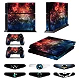 Skins for PS4 Controller - Decals for Playstation 4 Games - Stickers Cover for PS4 Console Sony Playstation Four Accessories PS4 Faceplate with Dualshock 4 Two Controllers Skin -Fire Cloud