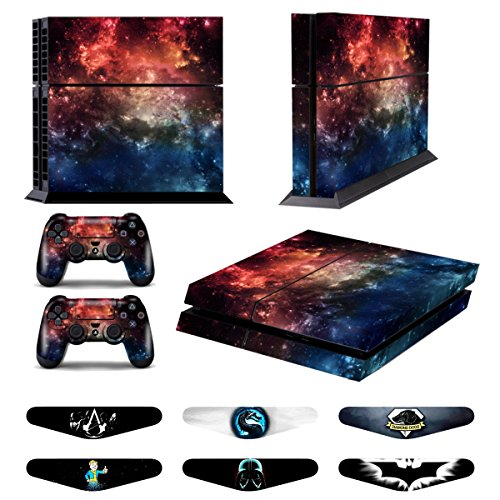 Skins for PS4 Controller - Decals for Playstation 4 Games - Stickers Cover for PS4 Console Sony Playstation Four Accessories PS4 Faceplate with Dualshock 4 Two Controllers Skin -Fire Cloud from GameXcel