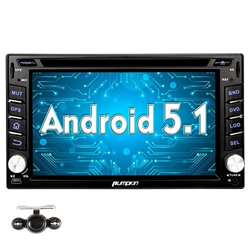 pumpkin android 5 1 car stereo in dash 2 din gps. Black Bedroom Furniture Sets. Home Design Ideas