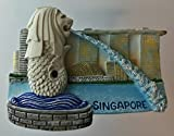 The Merlion Lion Fish Statue SINGAPORE Resin 3D fridge Refrigerator Thai Magnet Hand Made Craft.