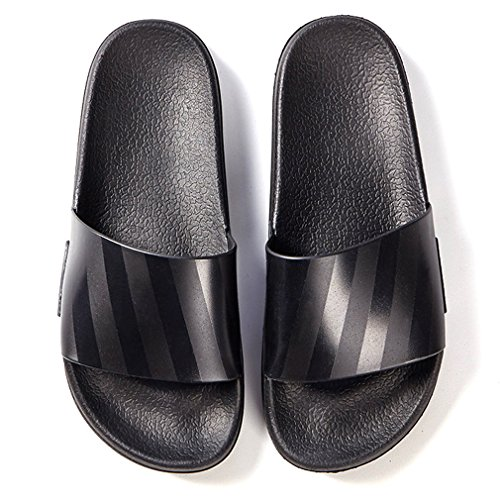 for Colorful Stripe Black Black ALOTUS with Summer Flat Sandals White Color Slipper Slide Gold Women x1Bf8