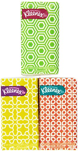 - Kleenex® 3-Ply Pocket Packs Facial Tissues (8 Packs)