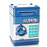 Stylebeauty Electronic Password Piggy Bank Cash Coin Can Money Locker Auto Insert Bills Safe Box Password ATM Bank Saver Birthday Gifts for Kids ( BLUE )