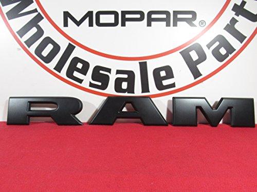 [해외]2019 DODGE RAM 매트 블랙 램 그릴 명판 새로운 OEM MOPAR / 2019 DODGE RAM Matte Black RAM Grille Nameplate NEW OEM MOPAR