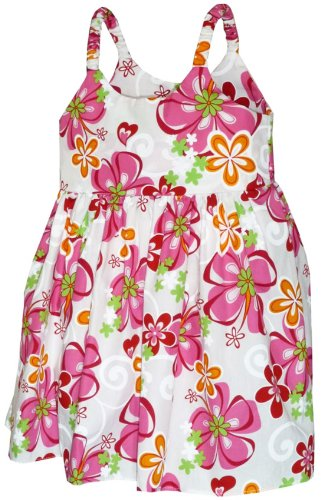 - Pacific Legend Girls Leilani Heavenly Flower Toddler Bungee Dress Pink 7-8 for 4yrs old