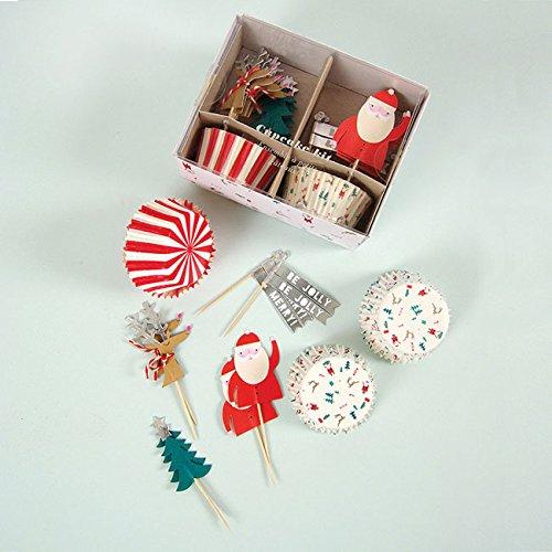Be Jolly Cupcake Decorating Kit - 48 Piece Set