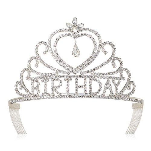 DcZeRong Birthday Tiaras and Crowns For Women Queen's Birthday Party Pageant Prom Tiaras Crowns -