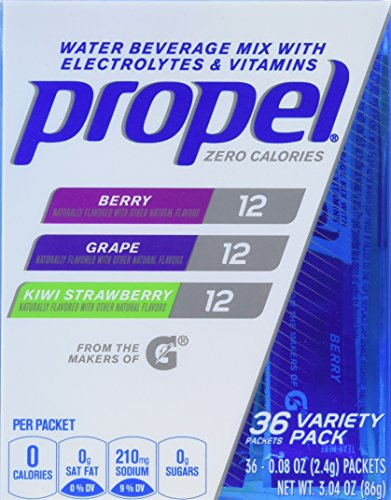 Propel Zero Calorie Nutrient Enhanced Water Beverage Mix (36 packets) (berry, grape & kiwi - Water Nutrient Enhanced Beverage