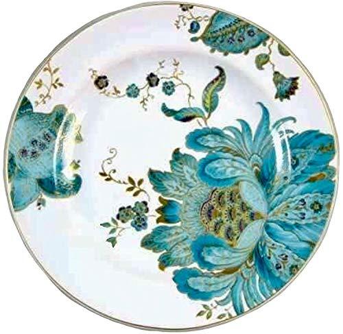 222 Fifth Eliza Teal Salad Plates (Set of 4 Plates) | Fine Porcelain
