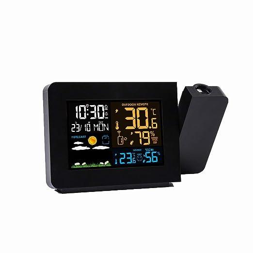 Relojes de alarma Multifunción despertador proyector con pantalla ...