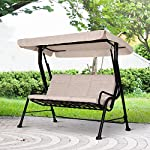 Outsunny-3-Seater-Outdoor-Garden-Swing-Chairs-Thick-Padded-Seat-Hammock-Canopy-Porch-Patio-Bench-Bed-Beige