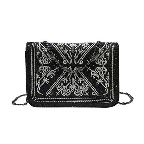 WILLTOO Women Shoulder Bag Glitter Glitter Satchel Tote Train Handbag Embroidery Crossbody&Messenger (Michaels Paint Pens)