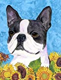 Caroline's Treasures SS4149CHF Boston Terrier Flag Canvas, Large, Multicolor
