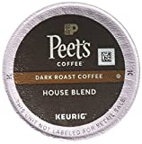 Peet's Coffee, House Blend, Dark Roast, K-Cup Pack (60 ct.), Single Cup Coffee Pods, Bright, Lively, Balanced Dark Roast Blend of Latin American Coffees, Deep Roasted; for All Keurig K-Cup Brewers