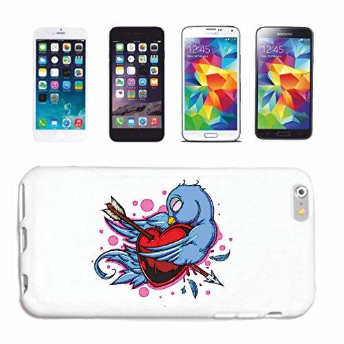 """cas de téléphone iPhone 7+ Plus """"IN BIRD LOVE AVEC COEUR À FLÈCHE LIFESTYLE FASHION STREETWEAR HIPHOP SALSA LEGENDARY"""" Hard Case Cover Téléphone Covers Smart Cover pour Apple iPhone en blanc"""