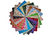 80 5'' Antique Calico Reproductions Charms Quilting Squares-20 DIFFERENT -4 OF EACH