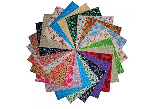 80 5'' Antique Calico Reproductions Charms Quilting Squares-20 DIFFERENT -4 OF EACH by Galaxy