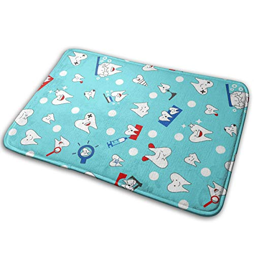 ZZATAA Dental Dentist Print Non-Slip Doormat Bath Mat Rug Halloween Decoration(15.75x23.62 Inch) for $<!--$13.52-->