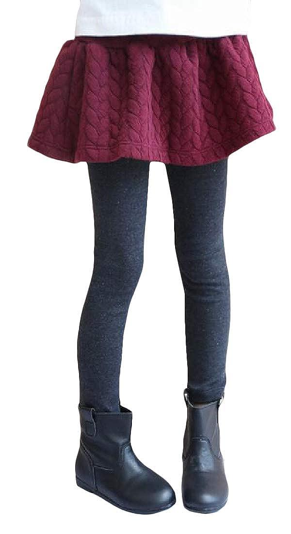 Pcutrone Girls Fleece Skirt Fake Two Thickened Pants Fashion Legging