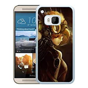 New Custom Designed Cover Case For HTC ONE M9 With Steampunk Woman Soldier Fantasy Mobile Wallpaper (2) Phone Case
