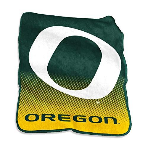 (Logo Brands NCAA Oregon Ducks Unisex Raschel Throwraschel Throw, Hunter, N/A)