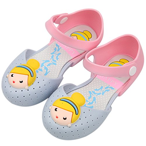Shoes Adult Lady Jane (iFANS Girls Cute Princess Jelly Shoes Mary Jane Flats for Toddler Little Kids,Blue,8 M US)