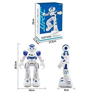 AIMEE7 JJRC Robot Teledirigido Para NiñOs – Robot Juguete Super Divertido - Caminar, Deslizarse, Bailar, Cantar, Programable (JJRC Robot, Azul)