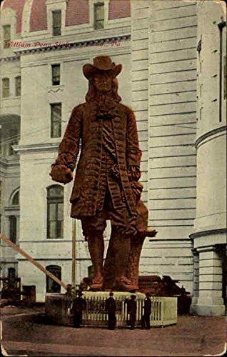 Statue William Penn - William Penn Statue Philadelphia, Pennsylvania Original Vintage Postcard